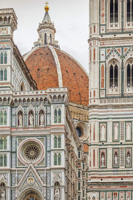 Scenic view of Detail of Florence Cathedral; Florence, Italy — Stock Photo