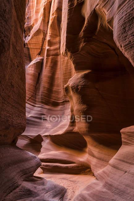 Vista panorâmica do majestoso canyon Slot conhecido como Rattlesnake Canyon; Page, Arizona, Estados Unidos da América — Fotografia de Stock
