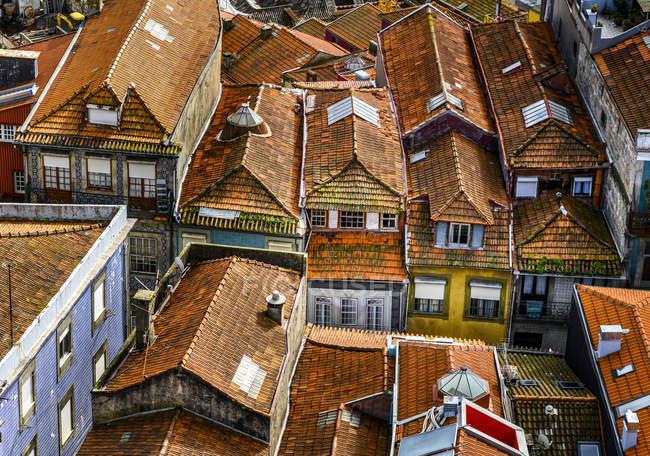 Rooftops of houses; Porto, Porto, Portugal — Stock Photo