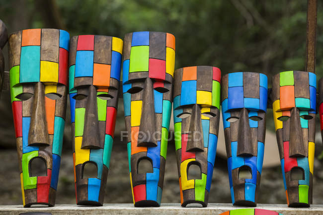 Crafts for sale, Chichen Itza; Yucatan, Mexico — Stock Photo