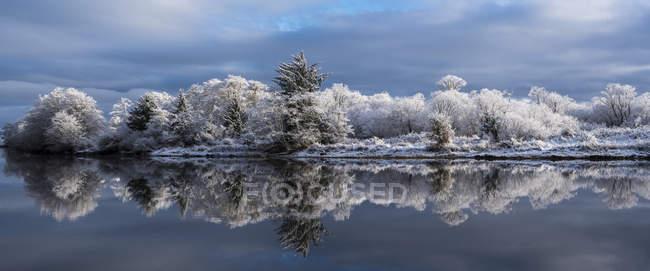 Nieve persiste en una tranquila mañana de invierno en Lewis and Clark National Historical Park; Astoria, Oregon, Estados Unidos de América - foto de stock