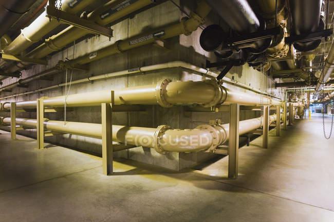 Linhas de lodo em uma estação de tratamento de água — Fotografia de Stock