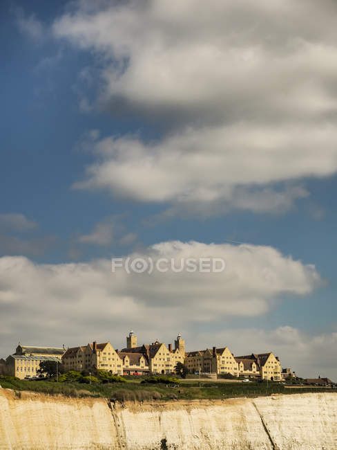 Roedean School and cliff; Roedean Village, Brighton, East Sussex, England — стоковое фото