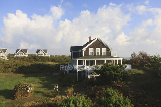 Vacation homes on Block Island, Rhode Island, USA — Stock Photo