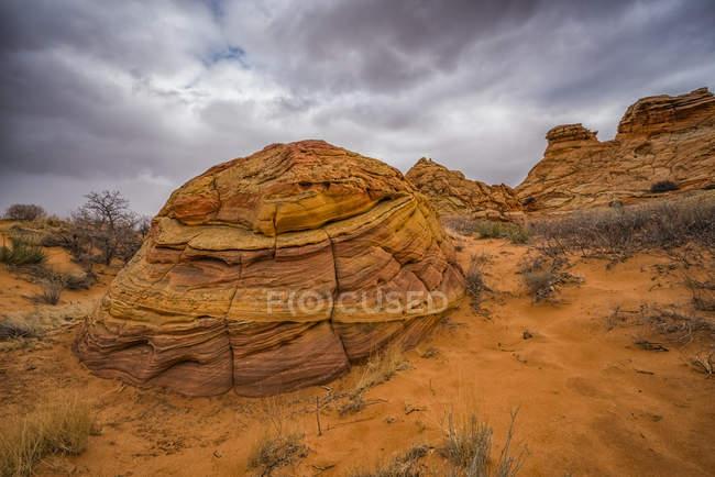 As incríveis formações de arenito e rocha de South Coyote Butte; Arizona, Estados Unidos da América — Fotografia de Stock