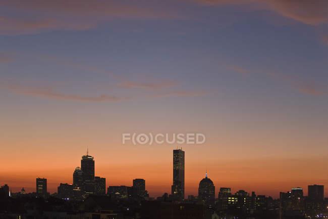 Будинки в місті, Back Bay, Бостон, Массачусетс, Уса — стокове фото