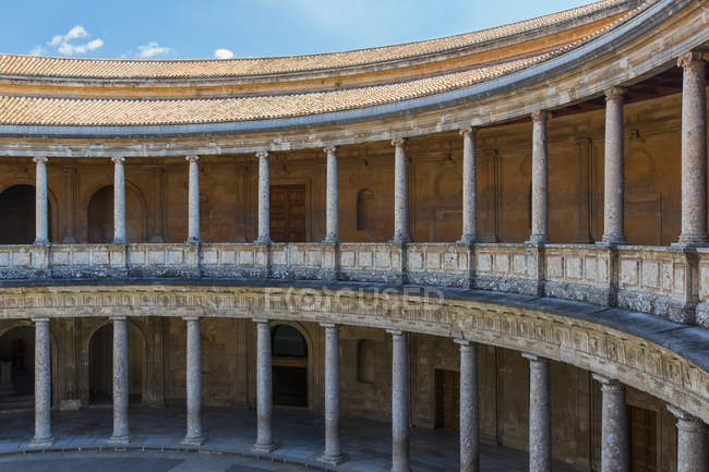 Palace of Charles V, Alhambra; Granada, Andalusia, Spain - foto de stock