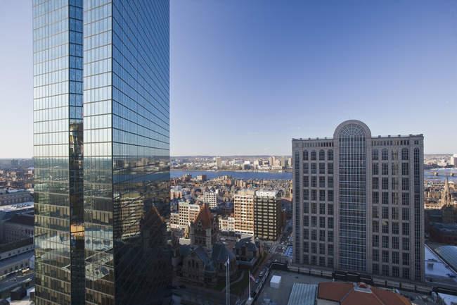 Edificios en una ciudad, John Hancock Tower, Back Bay, Boston, Massachusetts, Usa. - foto de stock