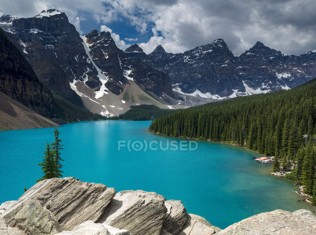 Moraine Lake, Banff National Park; Alberta, Canadá — Fotografia de Stock