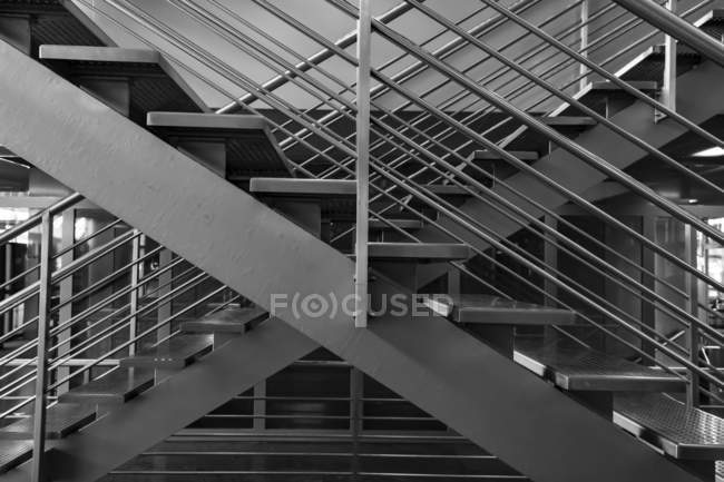 Two sets of stairs side by side; Lucerne, Lucerne, Switzerland — Stock Photo