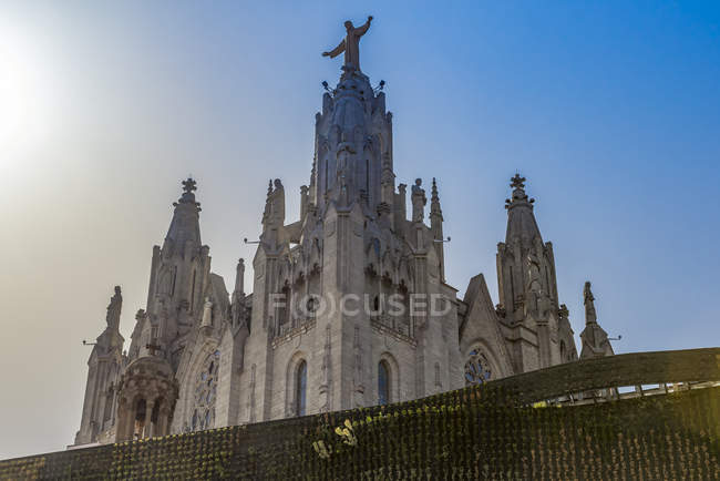Sagrat Cor Church, Mount Tibidabo; Barcelona, Catalonia, Spain — стокове фото