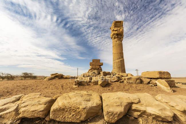 Храм цариці Тії, побудований Аменхотепом ІІІ в 14 столітті Bce; Седеінга, Північна держава, Судан — стокове фото