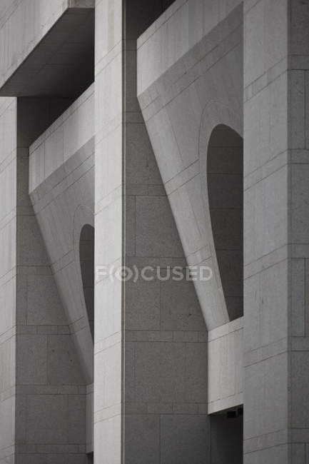 Geometric facade of a building, full frame view — Stock Photo