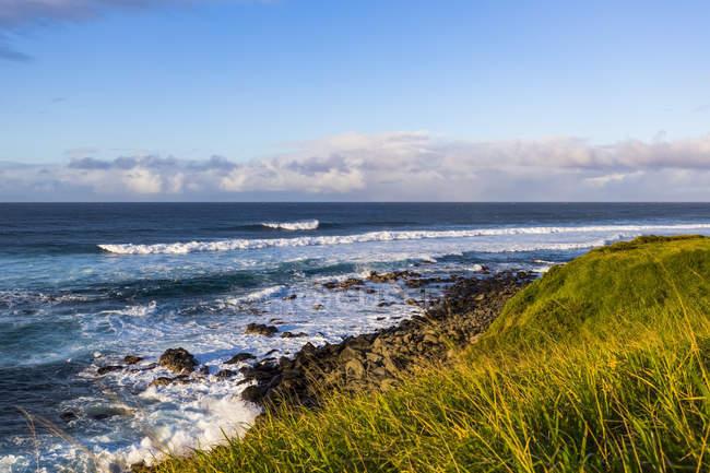 Vue panoramique sur un paysage majestueux avec vague océanique — Photo de stock