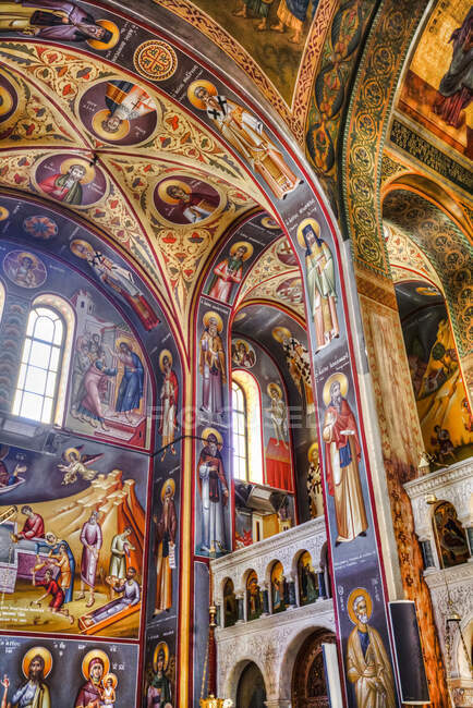 Scenic view of frescoes, St Johns Forerunners Parish; Athens, Greece — Fotografia de Stock