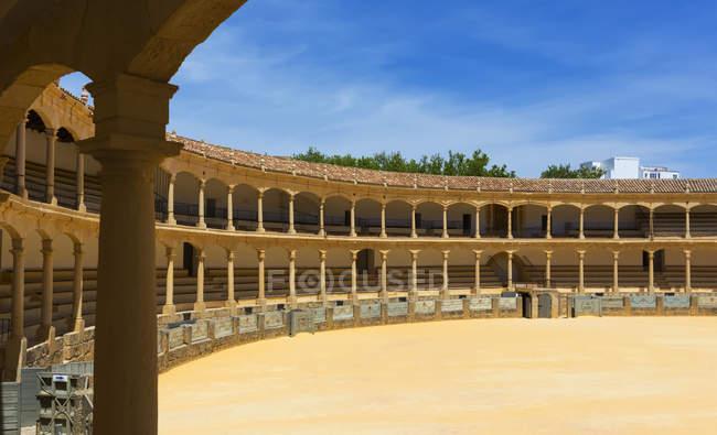 Bull fighting ring; Ronda, Malaga Province, Spain - foto de stock