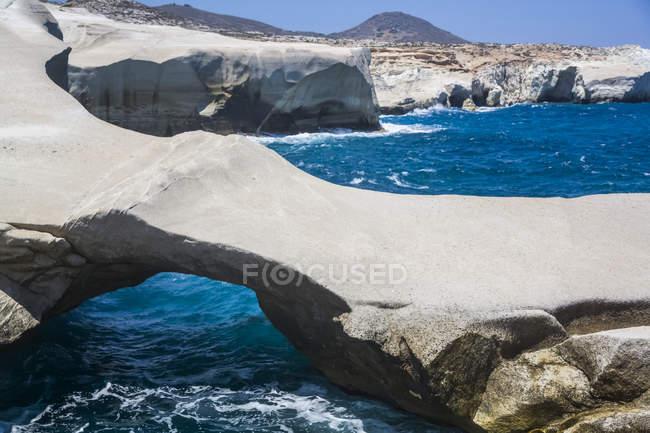 Sarakiniko Beach; Milos Island, Cyclades, Greece — Stock Photo