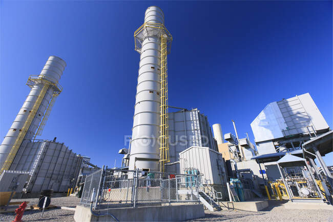 Gas turbine exhaust stack at an Electric cogeneration plant — Stock Photo