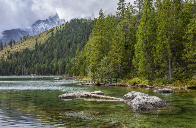 String Lake, Grand Teton National Park; Wyoming, Stati Uniti d'America — Foto stock