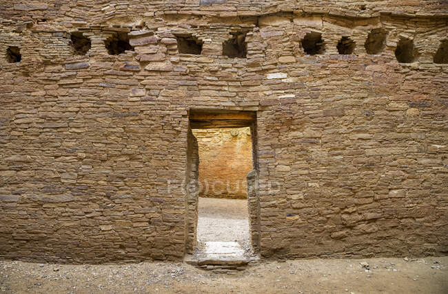 Chaco Culture National Historical Park ; Comté de San Juan, Nouveau-Mexique, États-Unis d'Amérique — Photo de stock