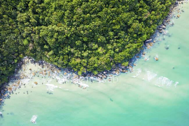 Drone vista, spiaggia di Sao; Phu Quoc, provincia di Kien Giang, Vietnam — Foto stock