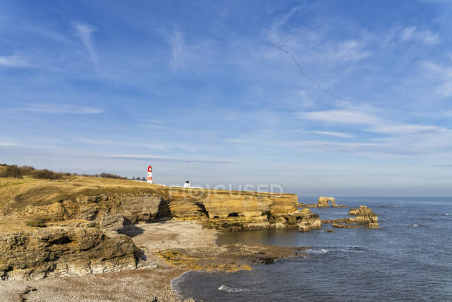 Souter Lighthouse; South Shields, Tyne and Wear, Inglaterra — Fotografia de Stock