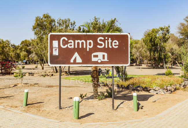 Hobas campsite, Fish River Canyon; Namibia — Stock Photo