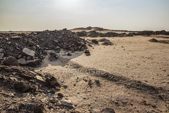 Paysage lunaire près de la mer Morte, côte du squelette, parc national de Dorob ; Namibie — Photo de stock