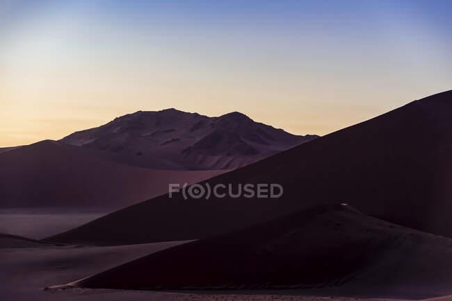 Вид с Дюны 45, Соссуссо, Ниб Дезерт; Нибиа — стоковое фото
