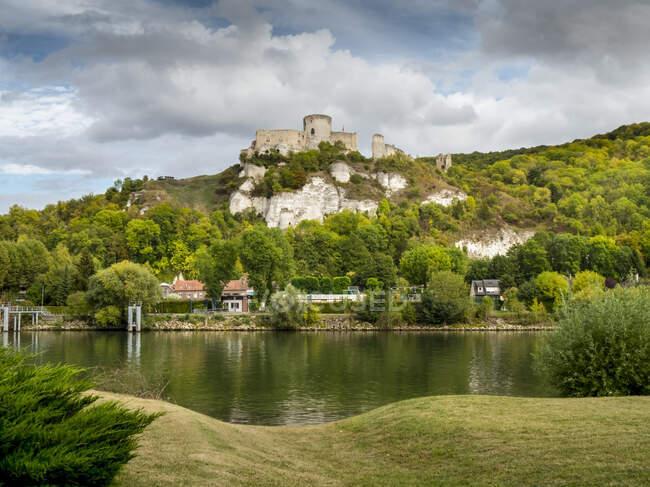 Chateau Gaillard; Les Andelys, Normandy, France — Stock Photo