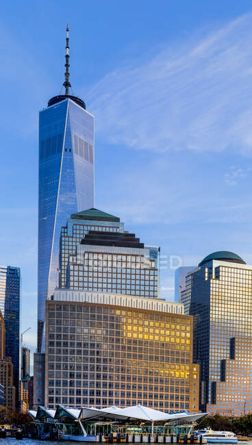 One World Trade Center, Manhattan, centro de Nova Iorque; Nova Iorque, Nova Iorque, Estados Unidos da América — Fotografia de Stock