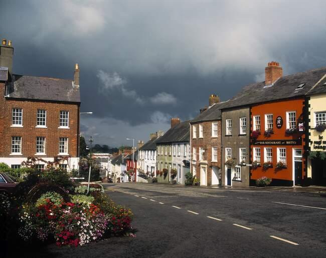 Main Street, Hillsborough, Contea di Down, Irlanda — Foto stock