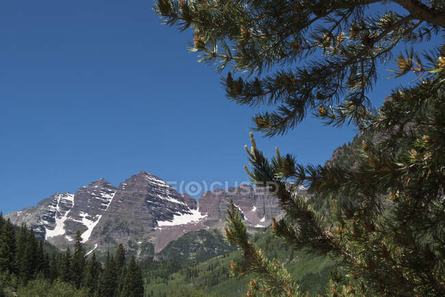 Maroon Bells, The Most Photographed Mountains In North America; Aspen, Colorado, United States Of America — Stock Photo