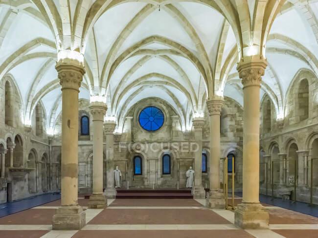 Interior of the Alcobaca Monastery; Alcobaca, Portugal — Stock Photo