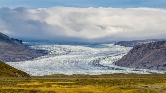 Ghiacciaio Hoffellsjokull, Parco Nazionale Vatnajokull; Hornafjordur, Regione orientale, Islanda — Foto stock