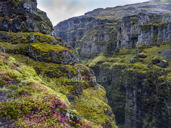 Glymur the second-highest waterfall in Iceland, with a cascade of 198 metres; Hvalfjardarsveit, Capital Region, Iceland — Stock Photo