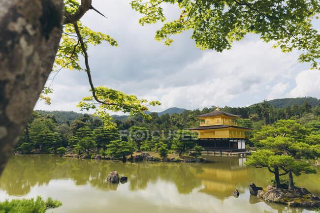 Храм Золотого павильона, Кинкаку-дзи; Киото, Кансай, Япония — стоковое фото