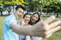 A Group Of Friends Taking A selfie Together — Stock Photo