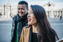 Coppia cinese in viaggio a Madrid, Spagna — Foto stock