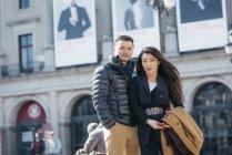 Chinesisches Touristenpaar in Madrid, Spanien — Stockfoto