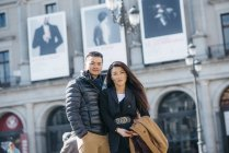 Китайская пара туристов в Мадриде, Испания — стоковое фото