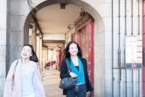 Asian women on holiday in Madrid, Spain — Stock Photo