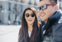 Coppia Cinese di turisti a Madrid, Spagna — Foto stock
