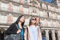 Donne asiatiche in vacanza a Madrid, Spagna — Foto stock