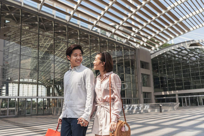 Young asian couple spending time together — Stock Photo
