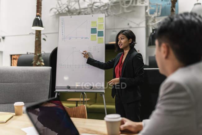 Молодые азиатские бизнесмены, работающие в современном офисе — стоковое фото