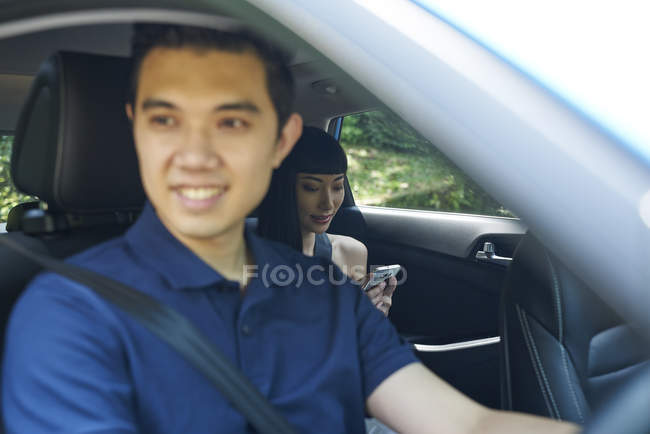Young male driver in the car — Stock Photo