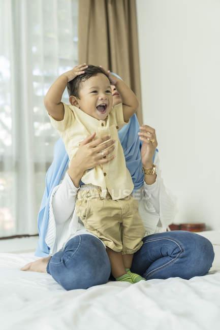 Время матери и ребенка — стоковое фото