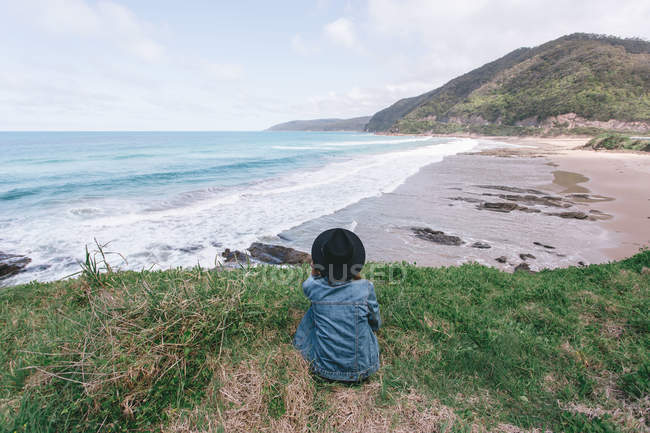 Young man having an adventure in Australia — Stock Photo