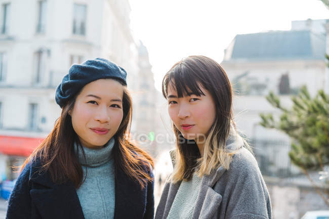Young adult asian female friends — Stock Photo